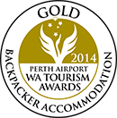 GOLD WA Tourism Awards Backpacker Accomodation 2014